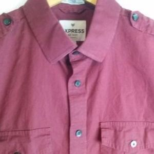 Men's Xpress Mk2 Button Down Fitted Shirt Size M